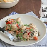 Slow Cooker Chicken a la King | www.tasteandtellblog.com