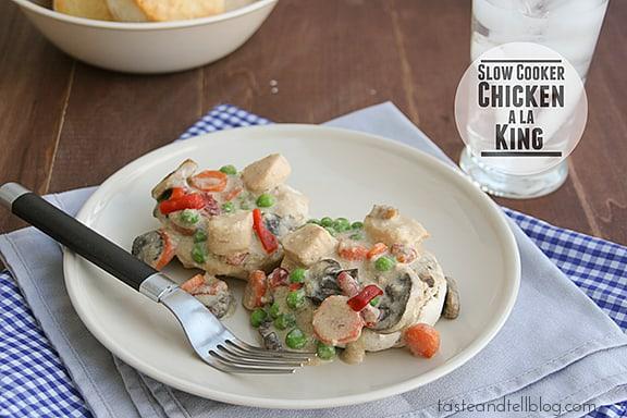 Slow Cooker Chicken a la King | www.tasteandtellblog.com