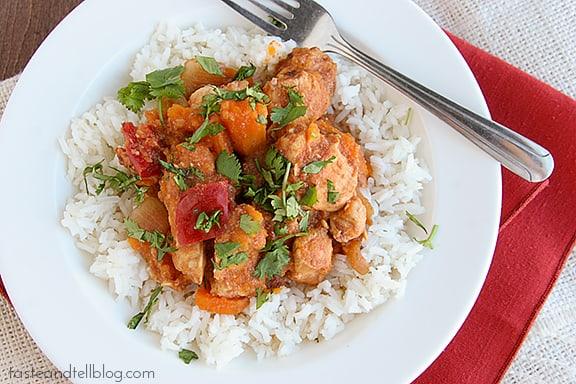 BBQ Chicken and Vegetables {Slow Cooker/Freezer Meal}   www.tasteandtellblog.com #recipe #slowcooker #chicken
