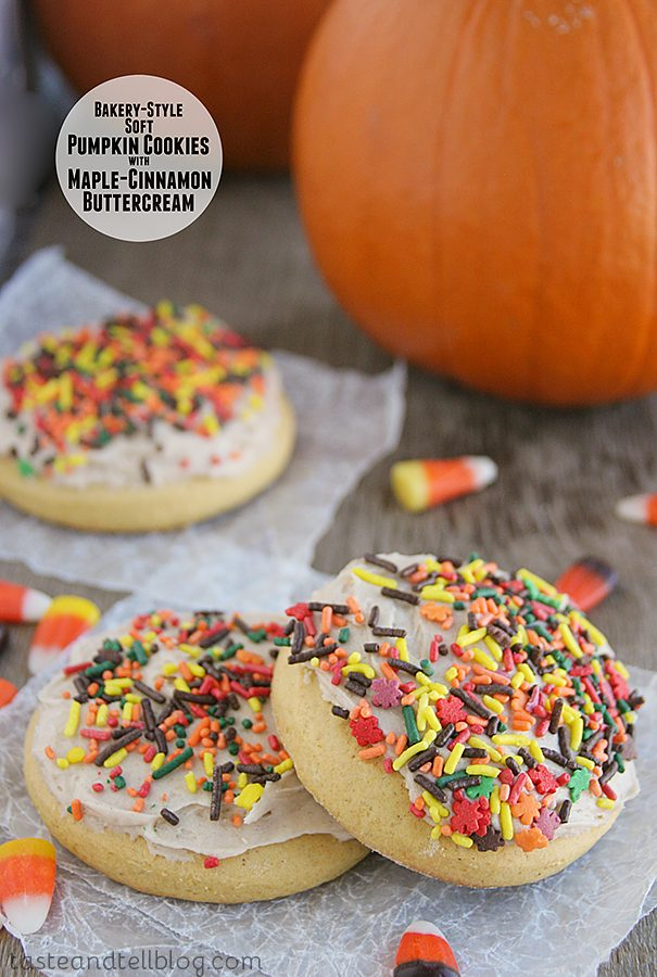 Bakery-Style Soft Pumpkin Cookies with Maple Cinnamon Buttercream