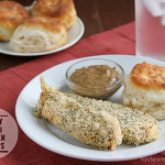 Crispy Ranch Chicken Fingers with Ranch BBQ Dipping Sauce | www.tasteandtellblog.com #recipe #chicken