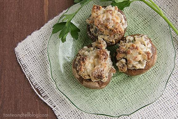 Sausage Stuffed Mushrooms   www.tasteandtellblog.com #recipe #appetizer