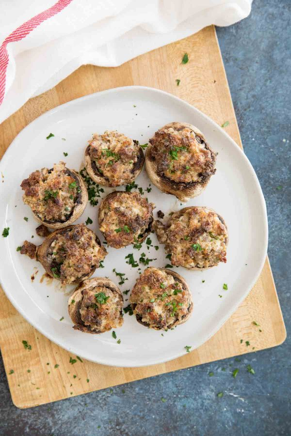 Sausage and Cream Cheese Stuffed Mushrooms