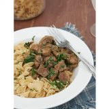 Slow Cooker Beef Stroganoff {America's Favorite Food Review and Giveaway}
