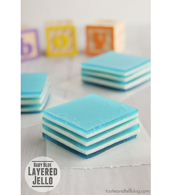 Baby Blue Layered Jello | www.tasteandtellblog.com
