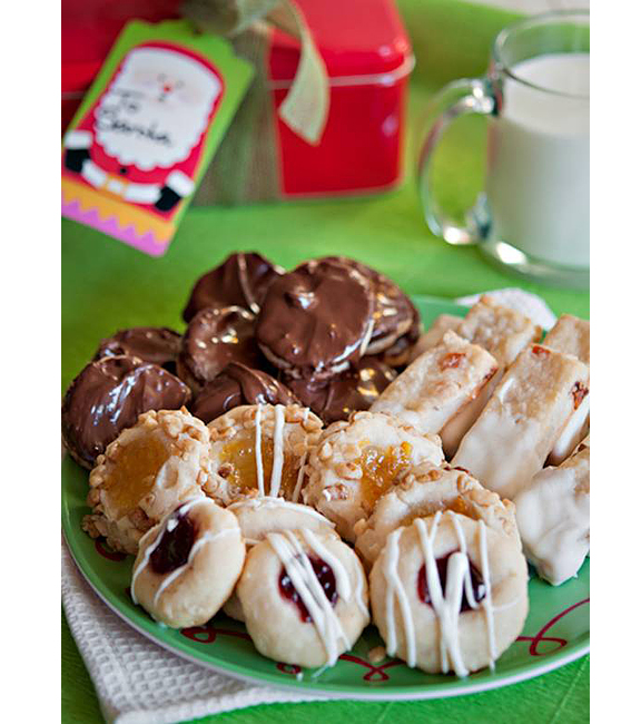 Holiday Cream Cheese Cookies - 4 Ways | www.tasteandtellblog.com #holiday #christmas #recipe #cookies
