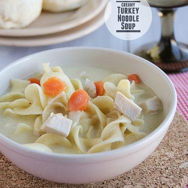 Creamy Turkey Noodle Soup   www.tasteandtellblog.com
