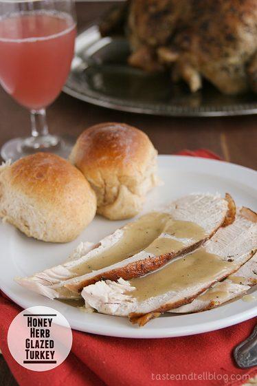 Honey Herb Glazed Turkey from Taste and Tell