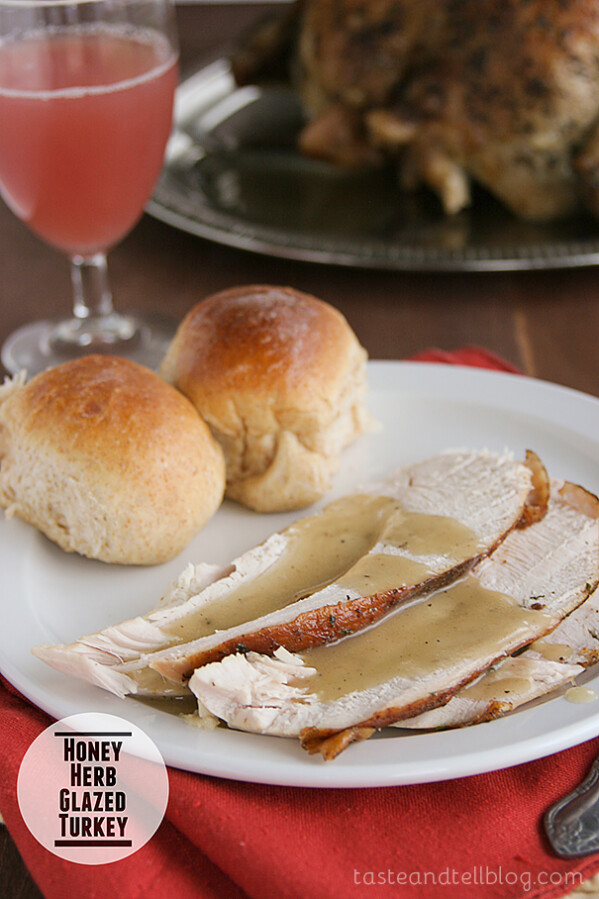 Honey Herb Glazed Turkey from Taste and Tell