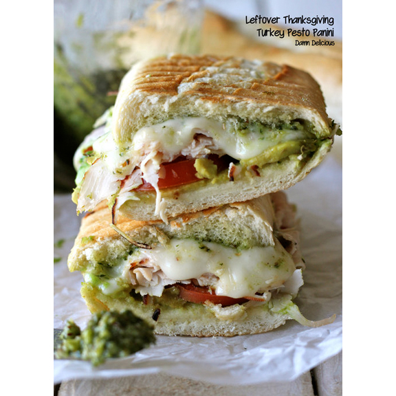 Thanksgiving Turkey Pesto Panini from http://damndelicious.tumblr.com/