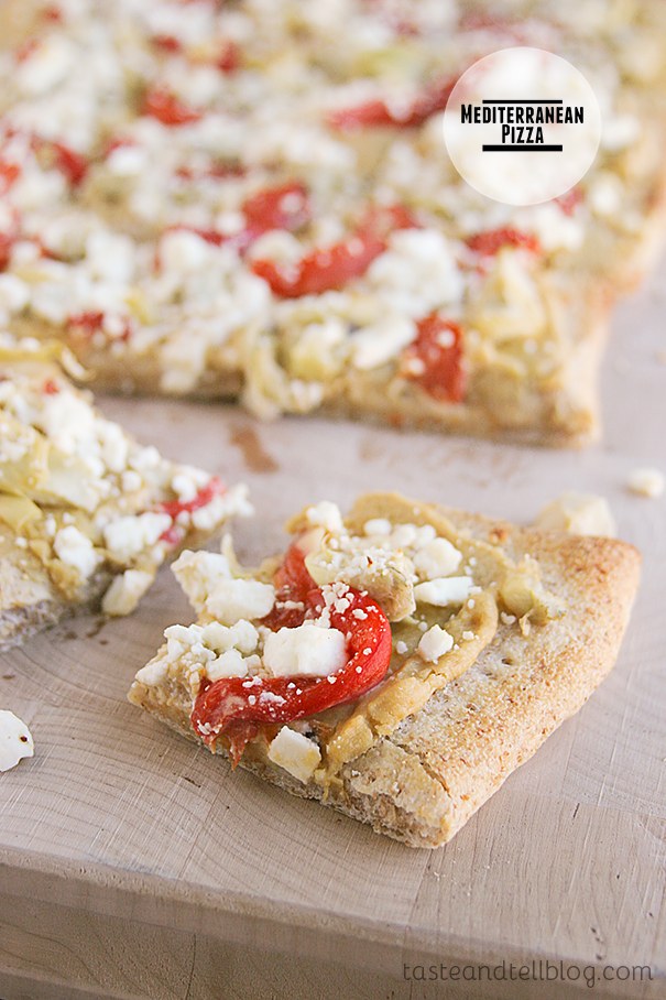 Mediterranean Pizza on Taste and Tell