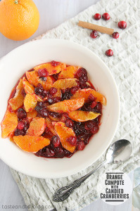 Orange Compote with Candied Cranberries | Taste and Tell