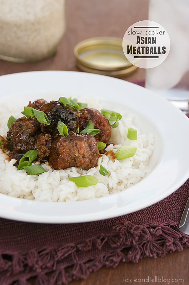 Slow Cooker Asian Meatballs | www.tasteandtellblog.com