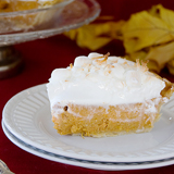 Sweet Potato Coconut Pie with Marshmallow Meringue | www.tasteandtellblog.com