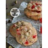 Cherry Chocolate Nut Cookies | www.tasteandtellblog.com #recipe #cookie