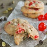 Cherry Chocolate Nut Cookies from www.tasteandtellblog.com