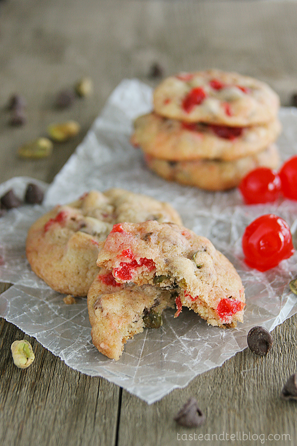 Cherry Chocolate Nut Cookies from www.tasteandtellblog.com