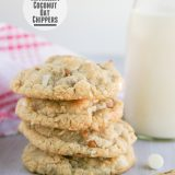 Cinnamon and White Chocolate Coconut Oat Chippers | Taste and Tell