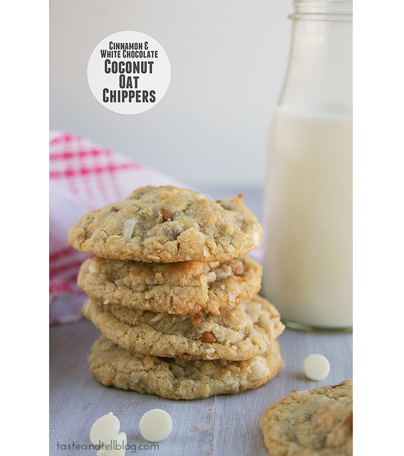 Cinnamon and White Chocolate Coconut-Oat Chippers
