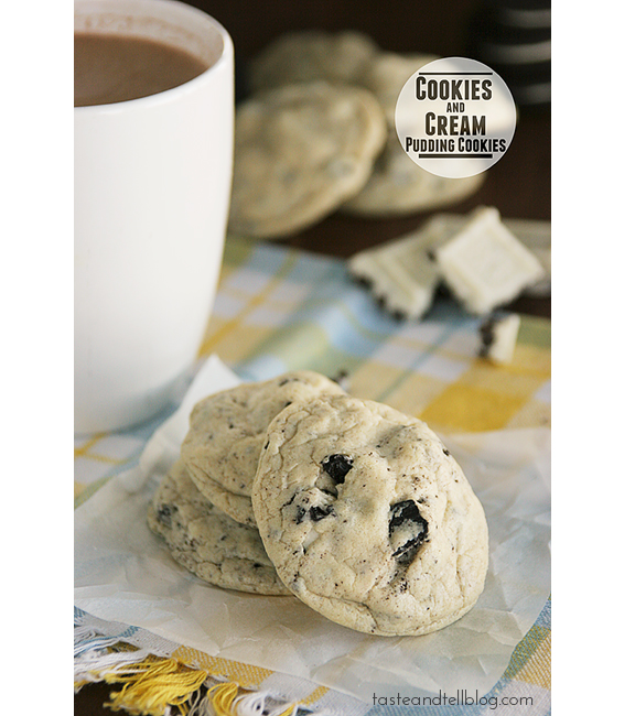 Cookies and Cream Pudding Cookies | www.tasteandtellblog.com