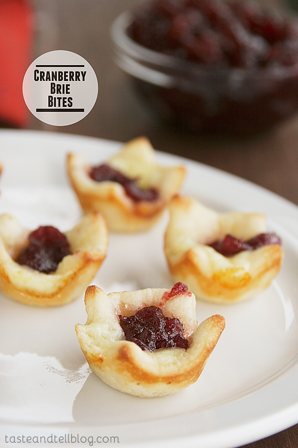 Cranberry Brie Bites | Taste and Tell