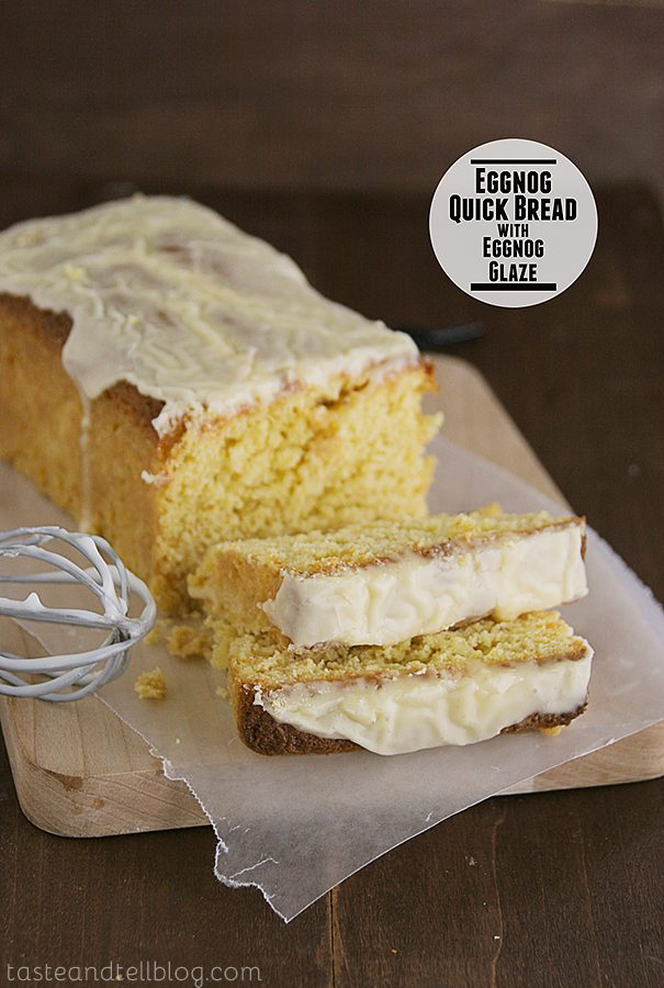 Eggnog Quick Bread with Eggnog Glaze