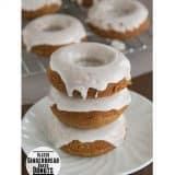 Glazed Gingerbread Baked Donuts | www.tasteandtellblog.com