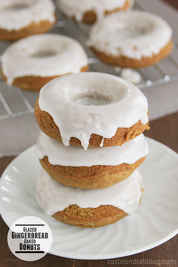 Glazed Gingerbread Baked Donuts from www.tasteandtellblog.com