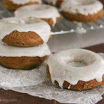 Glazed Gingerbread Baked Donuts