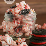 Peppermint and Cookie Popcorn from www.tasteandtellblog.com