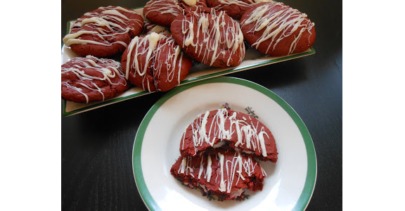 Red Velvet Cheesecake Cookies by Flavors by Four