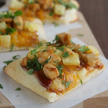 Teriyaki Chicken Pizza - Change up your pizza with a teriyaki and pineapple twist.