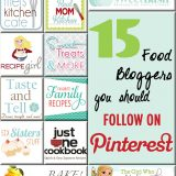 15 Food Bloggers You Should Follow on Pinterest #food #recipe #foodblogs
