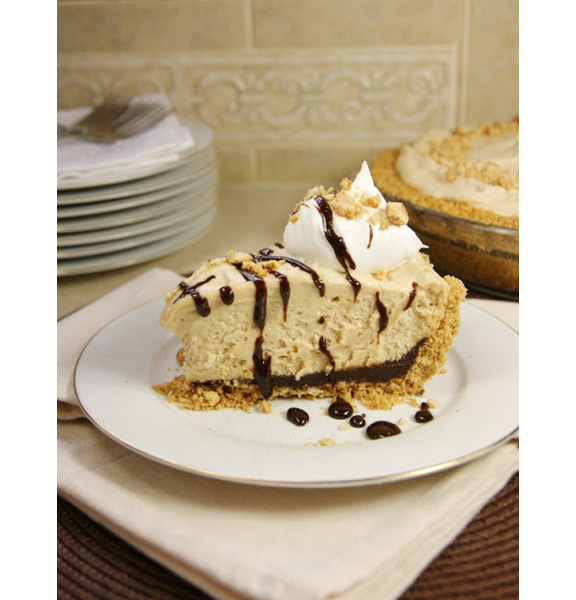 Black Bottom Peanut Butter Icebox Pie from The Kitchen is My Playground