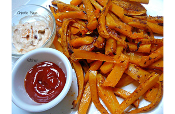 Butternut Squash Fries from Mostly Food and Crafts