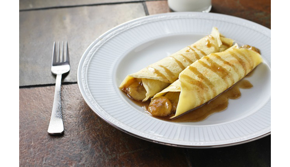 Caramelized Banana Nutella Crepes from Food Babbles