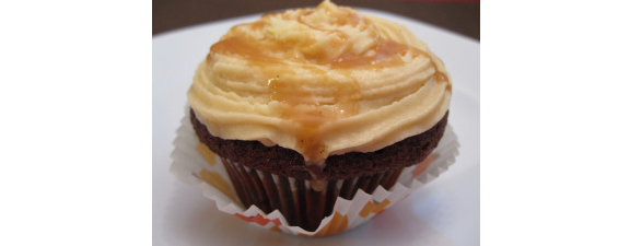 Gingerbread Cupcakes with Salted Caramel Icing from Bake, Run, Live