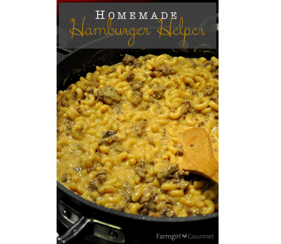 Homemade Hamburger Helper from Farmgirl Gourmet