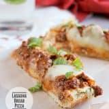 Lasagna Bread Pizza | www.tasteandtellblog.com