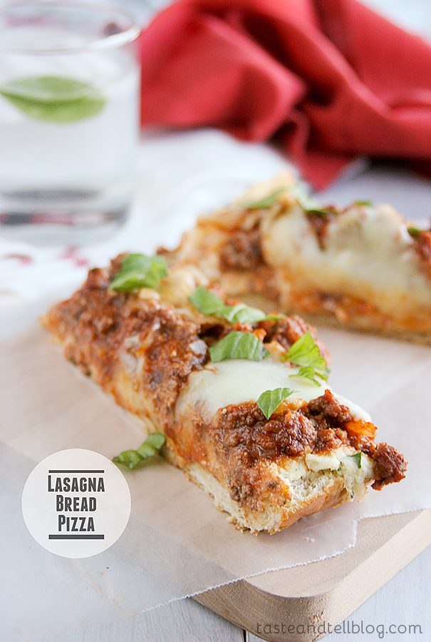 Lasagna Bread Pizza {Fridays with Rachael Ray}