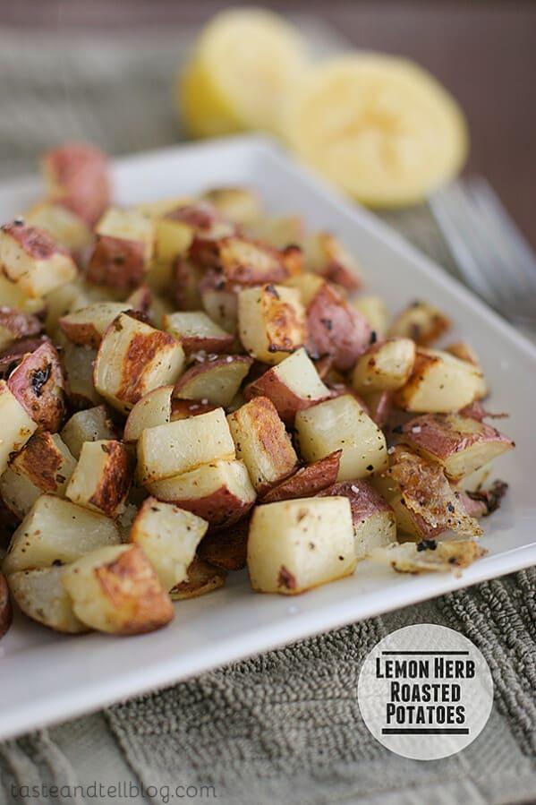 Lemon Herb Roasted Potatoes   Taste and Tell