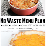 No Waste Menu Plan