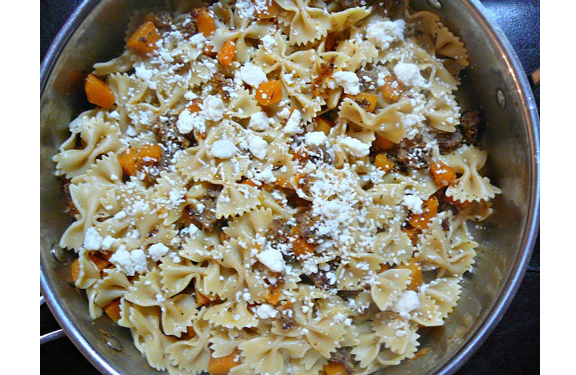 Pasta with Sausage and Butternut Squash from Mostly Food & Crafts