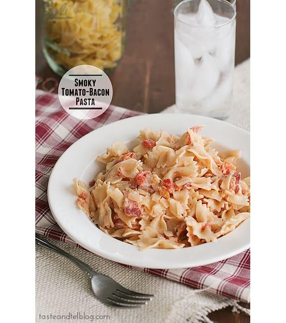 Smoky Tomato-Bacon Pasta | www.tasteandtellblog.com
