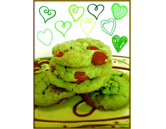 Oscar the Grouch Peppermint Cookies from Tumbleweed Contessa
