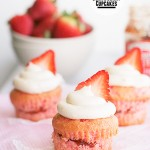 Very Strawberry Cupcakes
