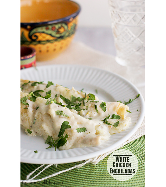White Chicken Enchiladas | www.tasteandtellblog.com
