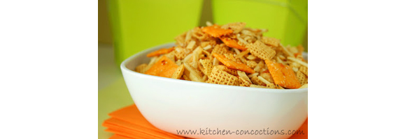 Loaded Baked Potato Chex Mix from Kitchen Concoctions