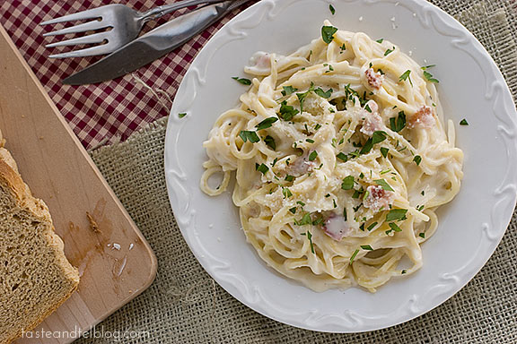 Bacon Alfredo Pasta Taste And Tell