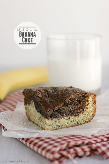 Black and White Banana Cake | www.tasteandtellblog.com #recipe #banana #cake